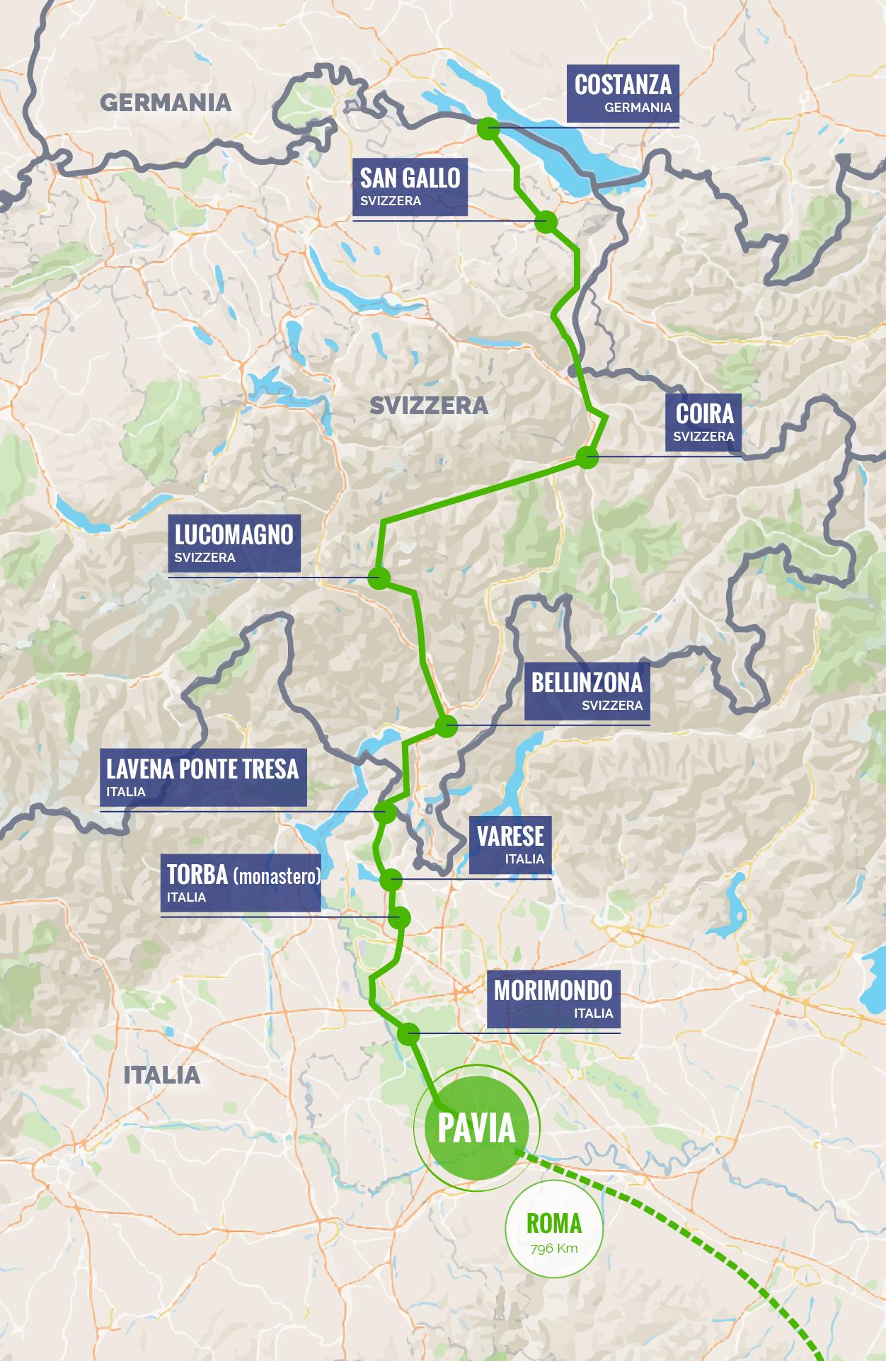 La Via Francisca - Mappa del progetto
